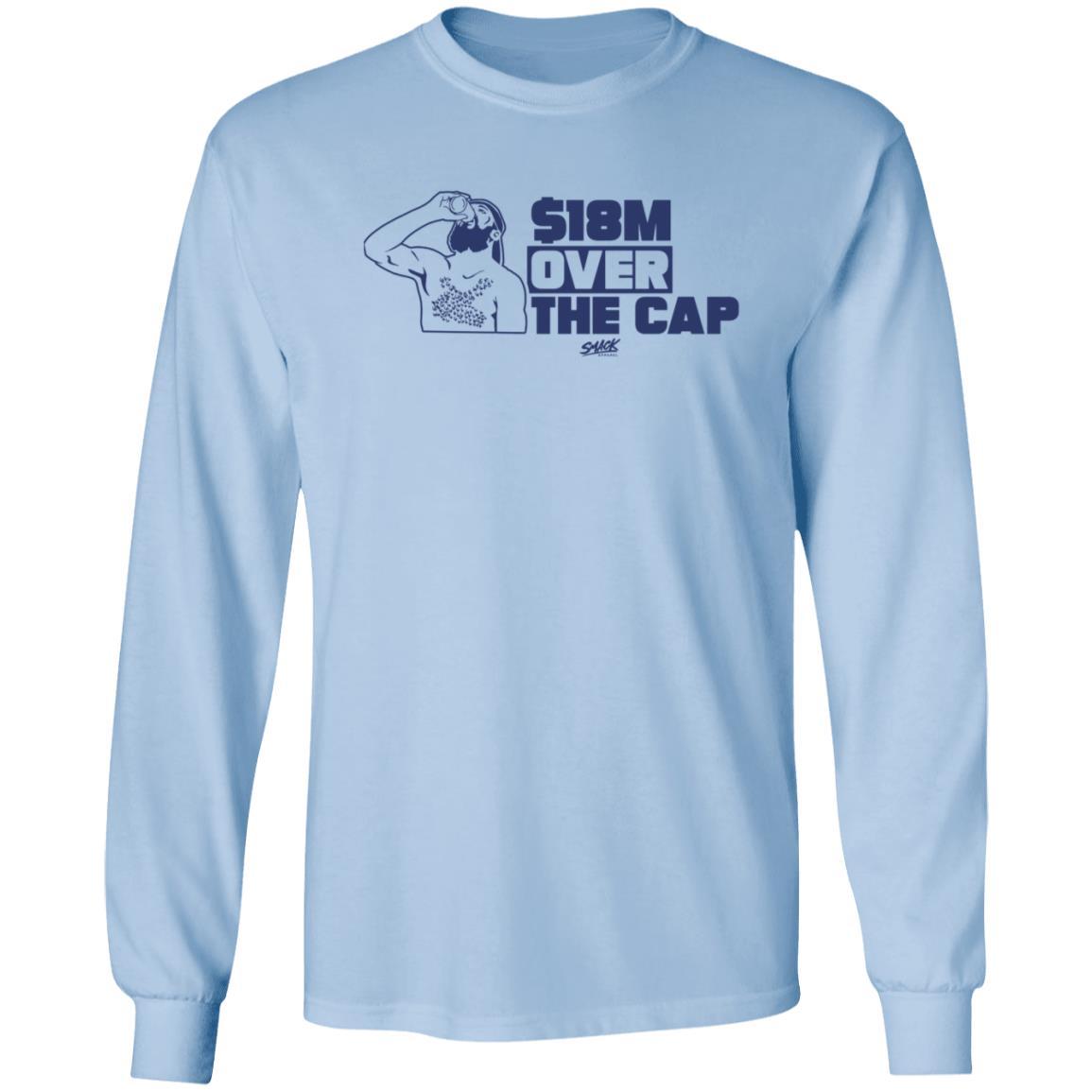 $18M ($18 Million) Over The Cap Hockey Shirt For Tampa Bay Fans Kucherov